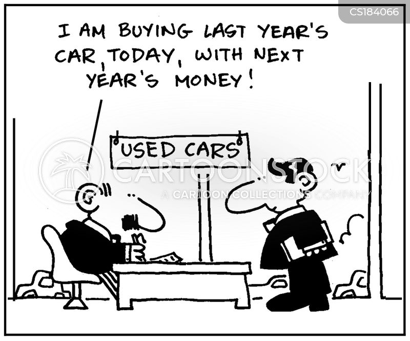 secondhand car cartoon