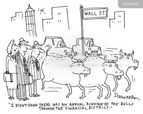 running of the bulls cartoon
