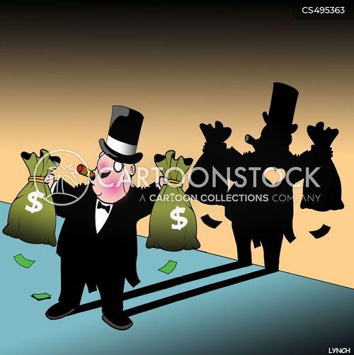 mega rich cartoon