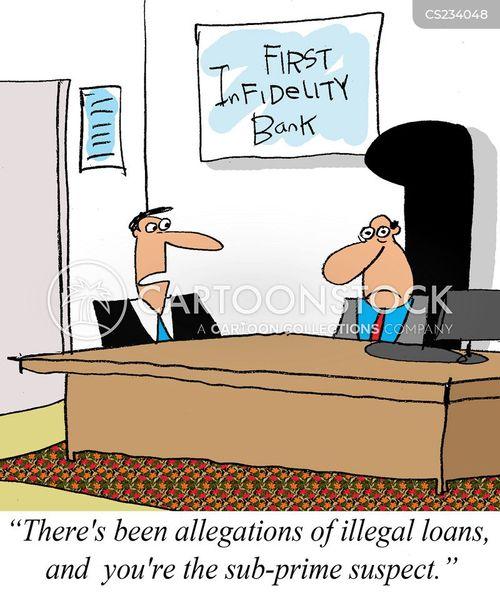 illegal activity cartoon