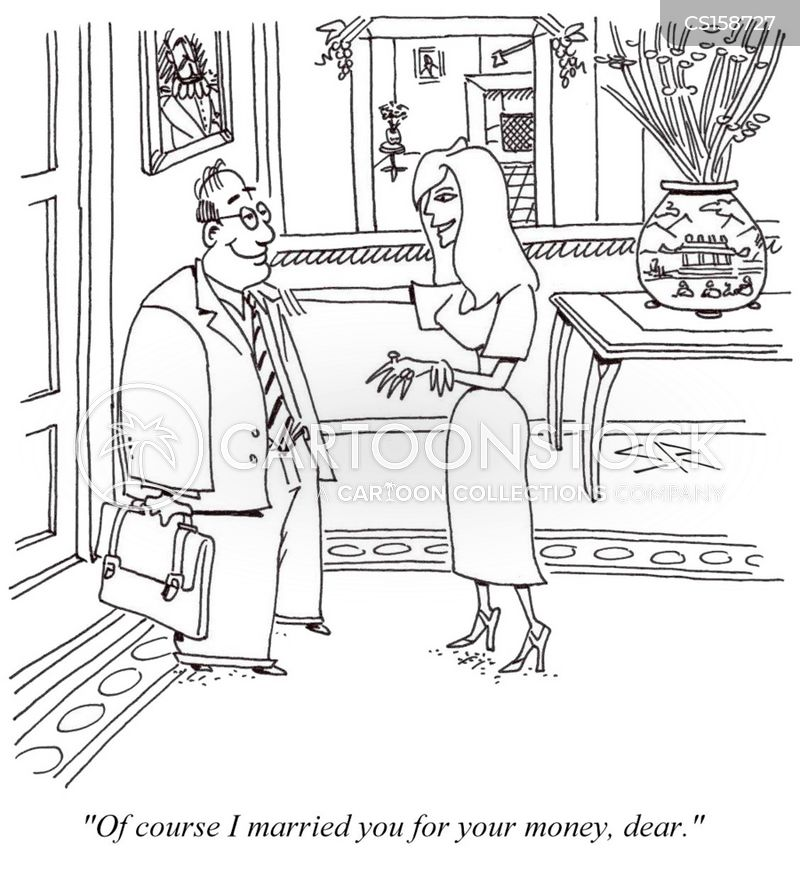 marrying for money cartoon