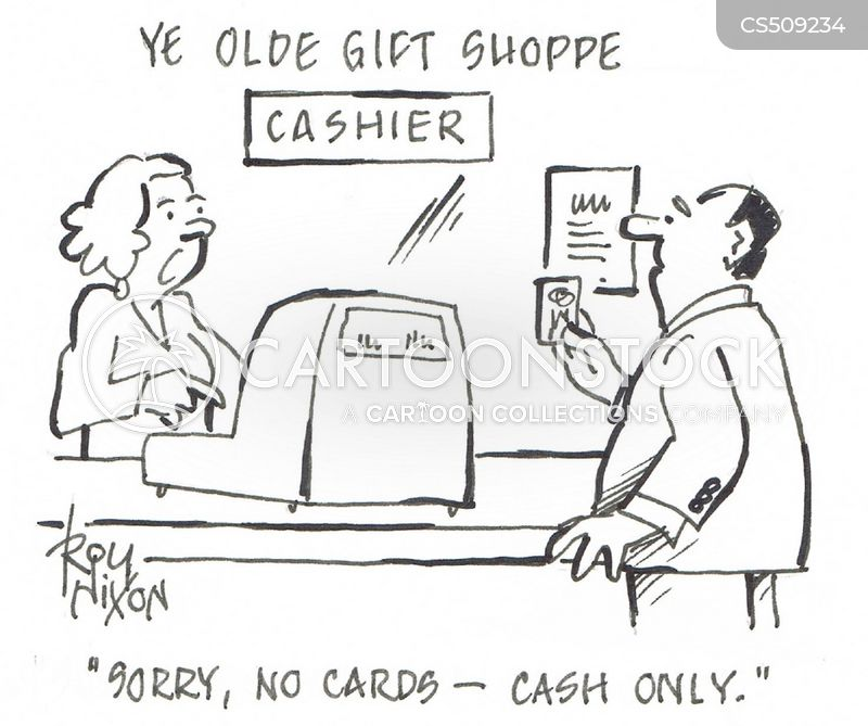 cashless cartoon