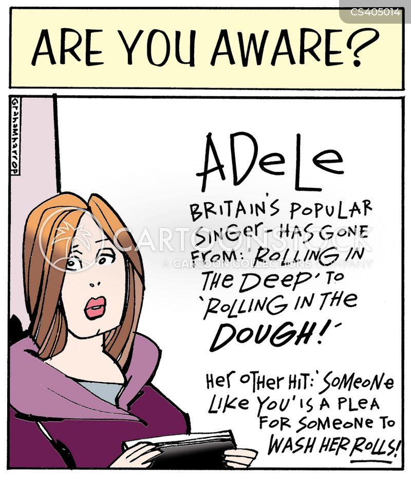 adele cartoon