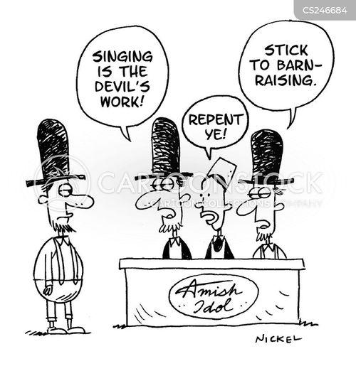 amish cartoon