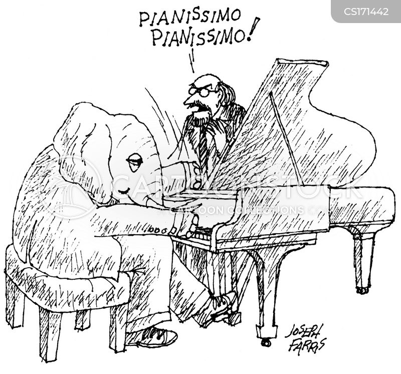 piano player cartoon