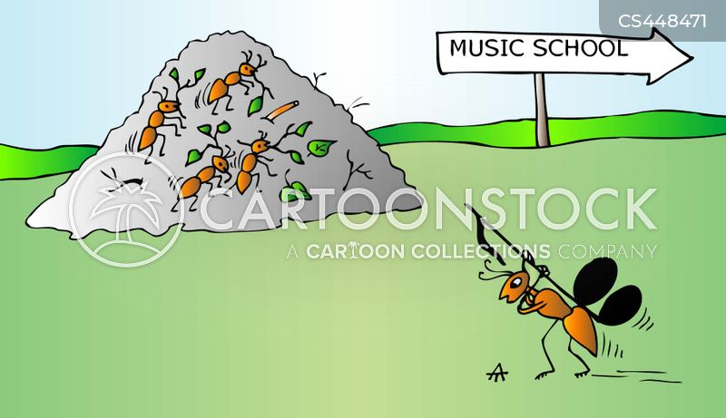 anthill cartoon