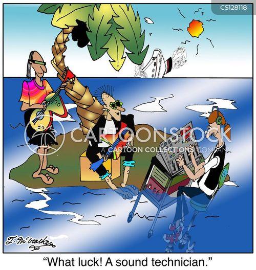 audio tech cartoon