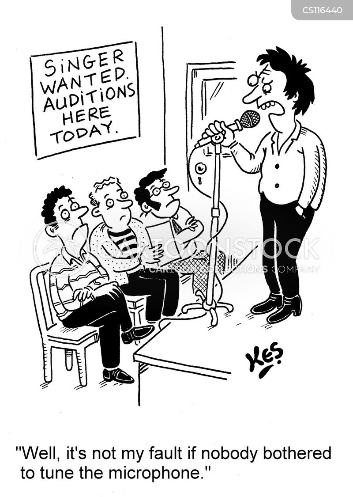 vocalist cartoon