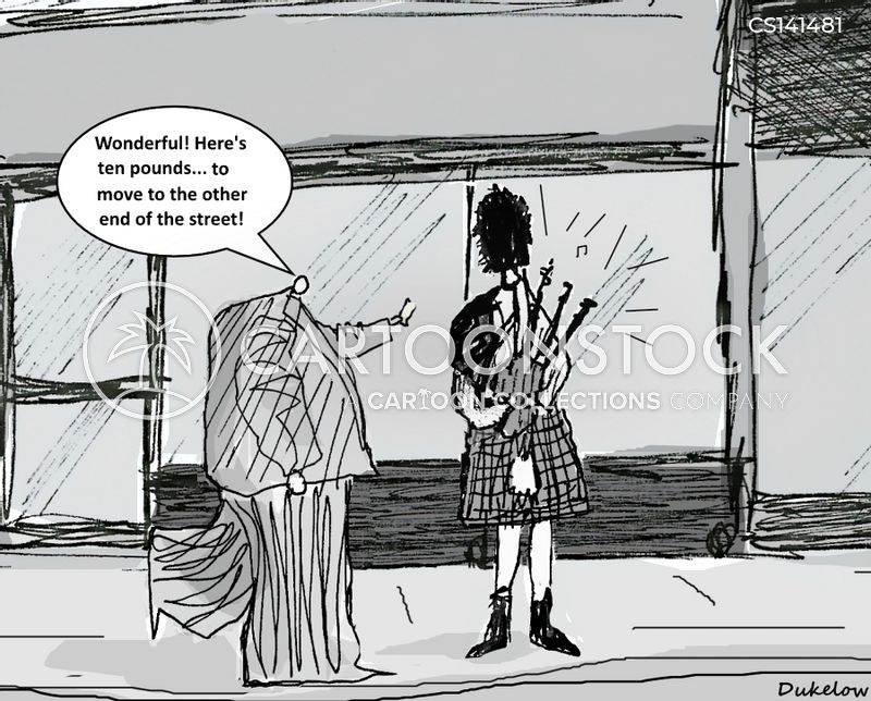 bagpipe player cartoon