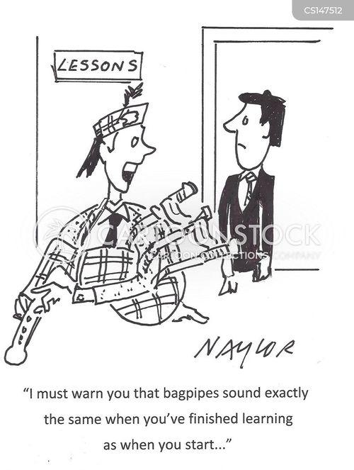 bagpipers cartoon