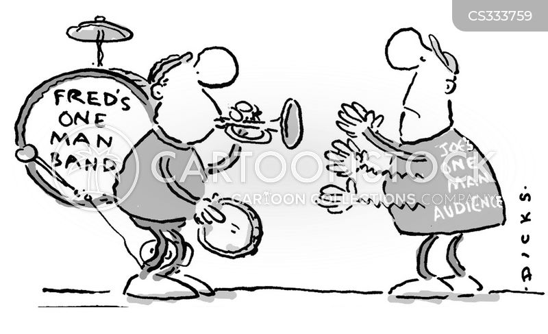 playing instruments cartoon