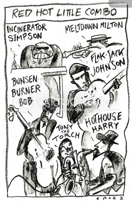 jazz band cartoon