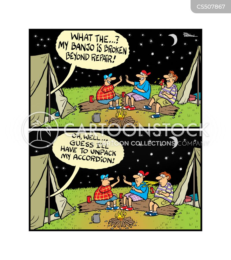 camping out cartoon