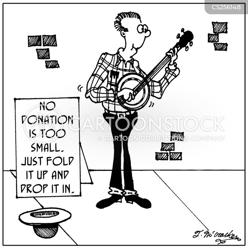 banjoist cartoon