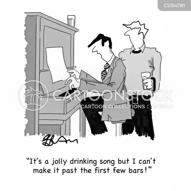 musical scores cartoon