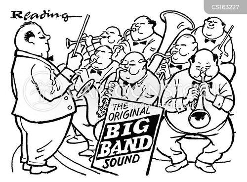 big band cartoon