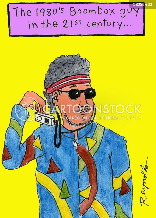 1980s fashion cartoon