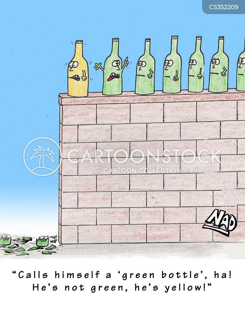 green bottle cartoon