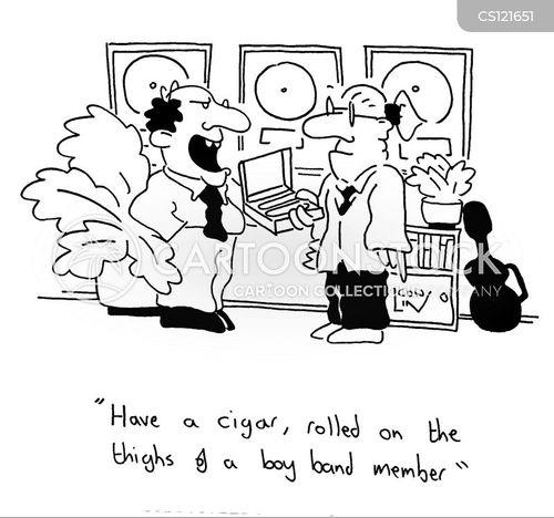 record producer cartoon