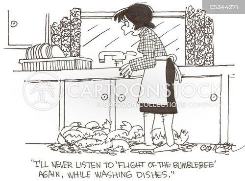 flight of the bumblebee cartoon