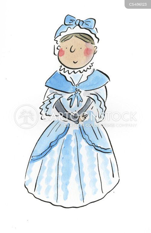 victorian dress cartoon