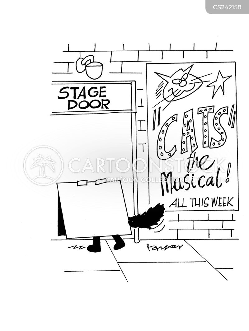 broadway musicals cartoon