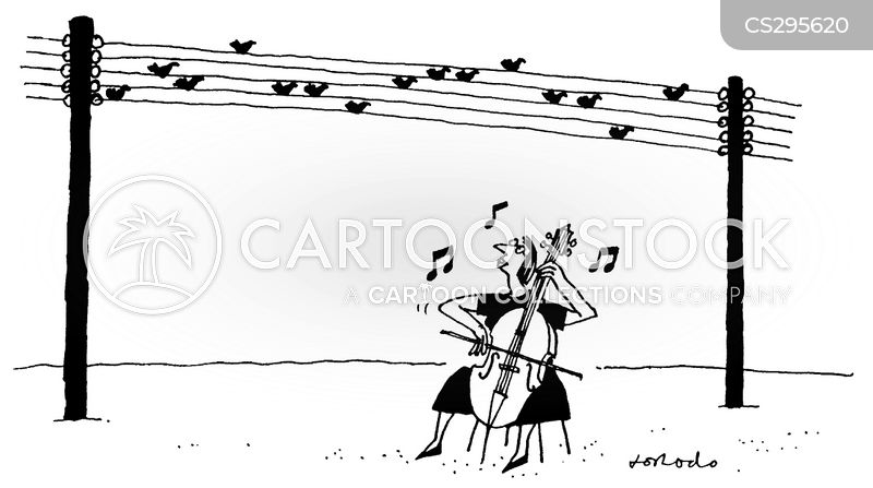telephone wires cartoon