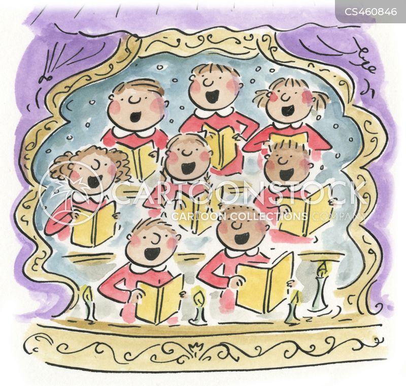 choir singer cartoon