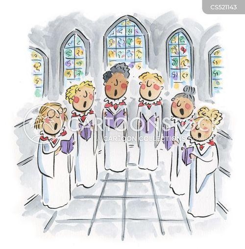 church choirs cartoon