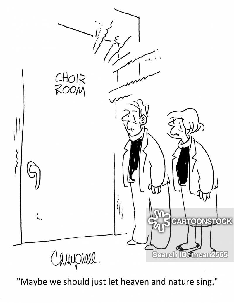 choir practices cartoon