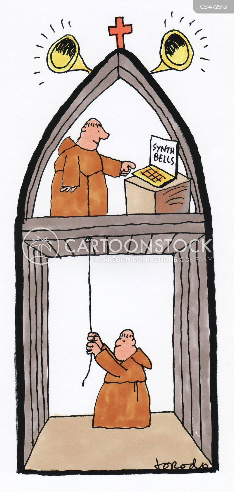 bell-ringing cartoon