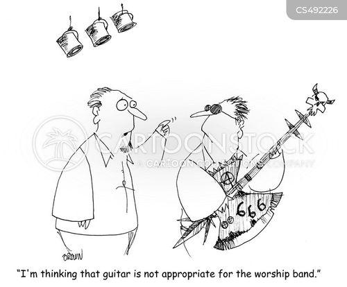 church band cartoon