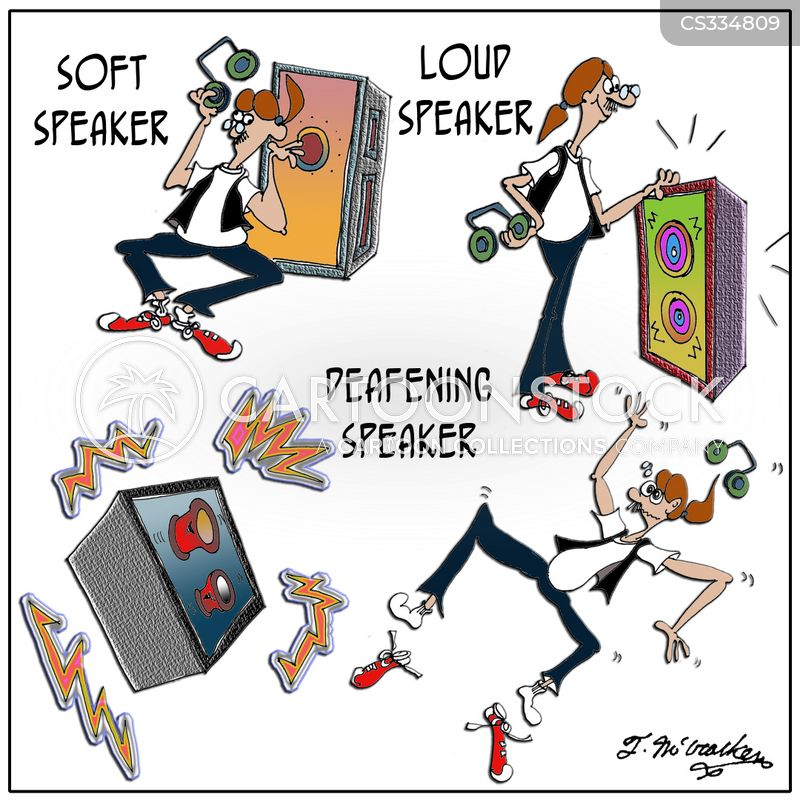 loud speaker cartoon