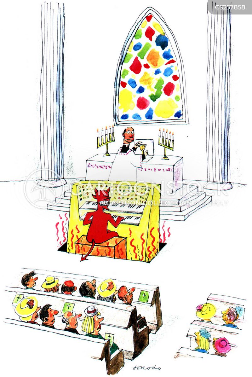 church organ cartoon