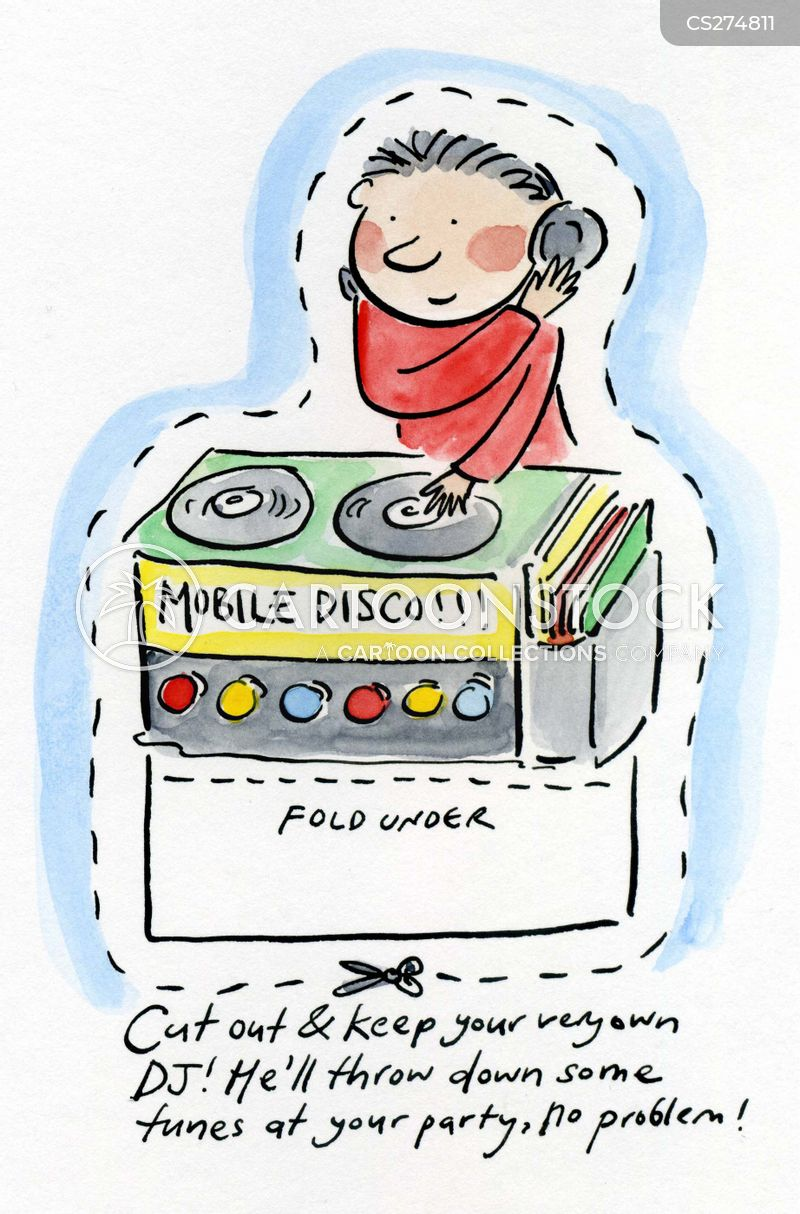 mobile disco cartoon