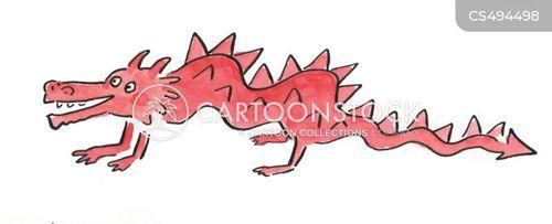 red dragons cartoon