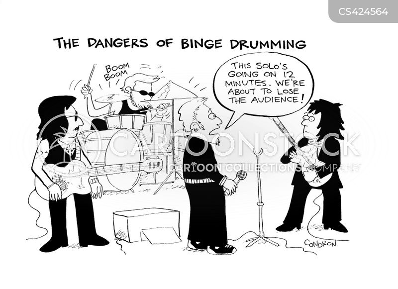 rock concert cartoon