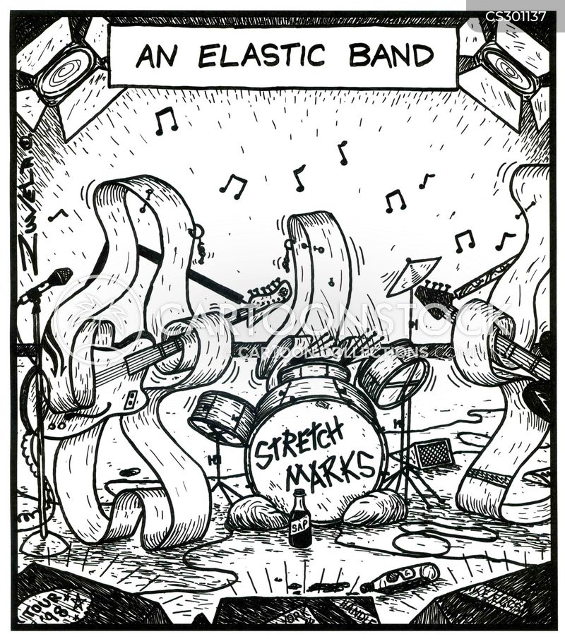 elastic bands cartoon