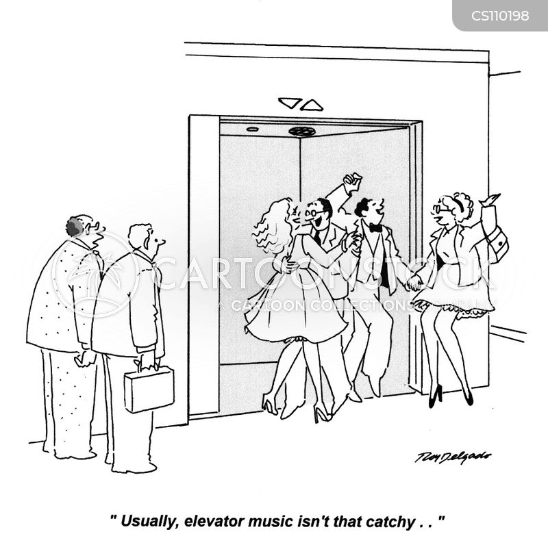 elevator music cartoon