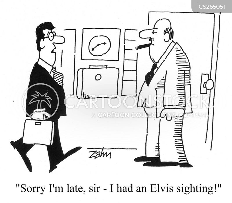 elvis sighting cartoon