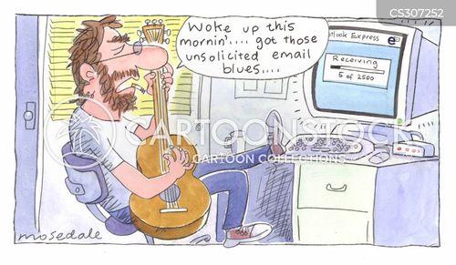 e mails cartoon