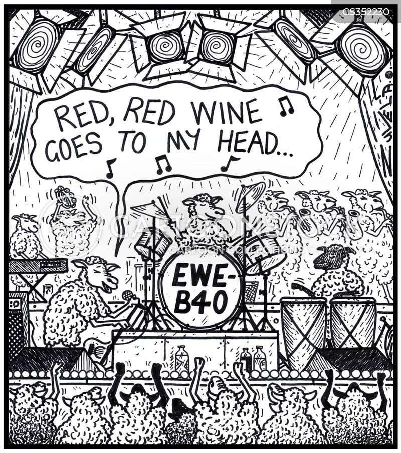 red red wine cartoon