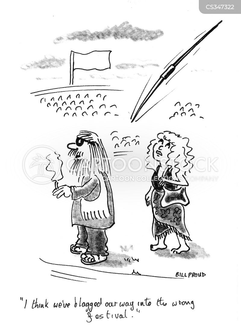 festival goers cartoon