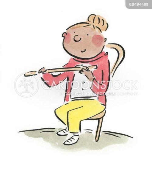 flutists cartoon