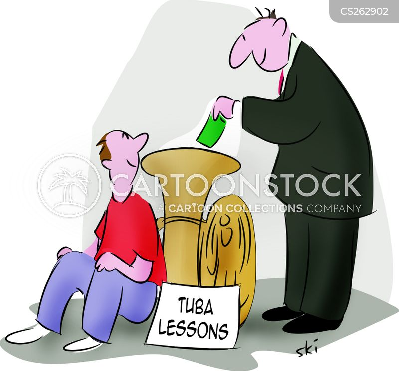 tuba player cartoon