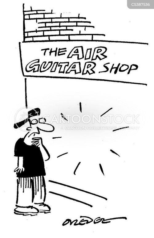 music stores cartoon