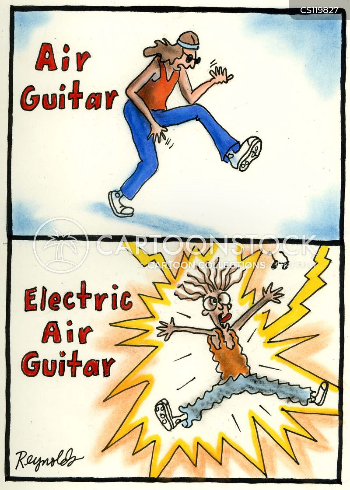 electric guitar cartoon