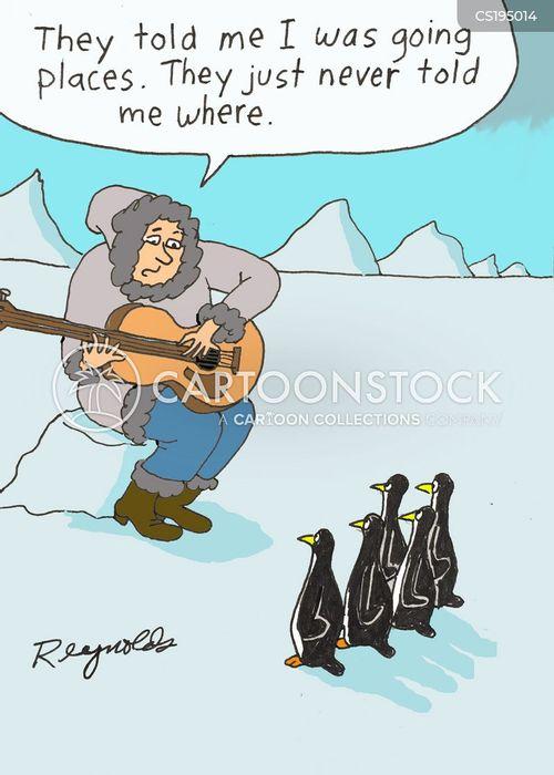 guitar players cartoon