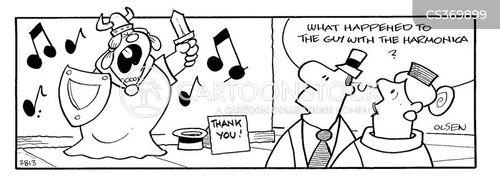 off key cartoon