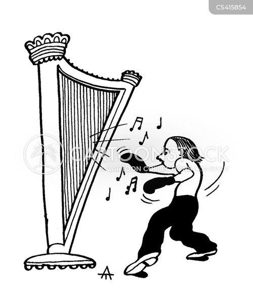 harpist cartoon